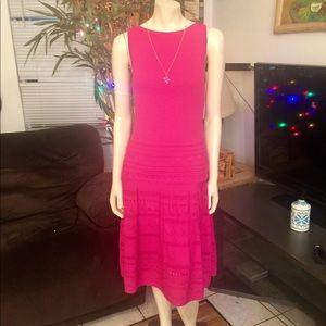 HOST PICK Ralph Lauren Hot Pink Sweater Dress M